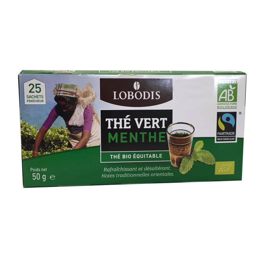 Thé Vert Menthe Lobodis
